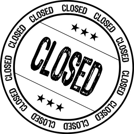 closed: rubber stamp - closed Illustration