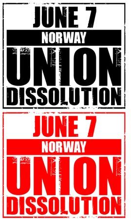dissolution: june 7 - norway - union dissolution