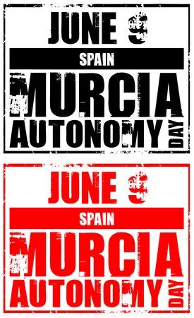 autonomia: 9 de junio - Espa�a - Regi�n de Murcia autonom�a d�as Vectores