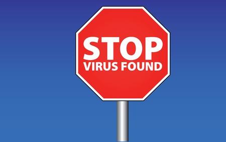 stop - virus found Stock Vector - 5263630