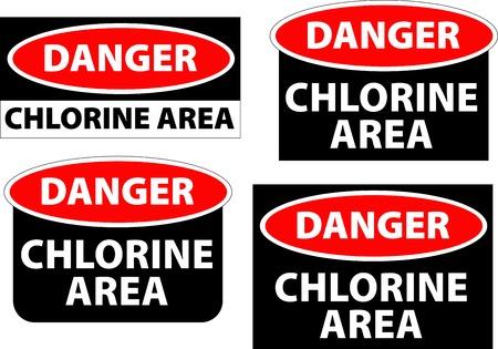 hazardous area sign: la zona de peligro - zona de cloro