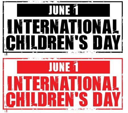 childrens day: june 1 - international childrens day Illustration