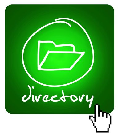 web button - directory  Stock Photo