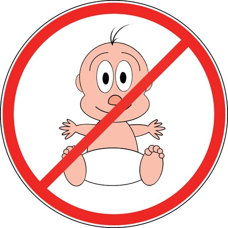 no entry with child Stock Vector - 5402173