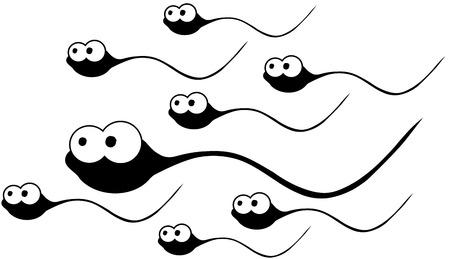 gene: Cartoon sperma  Stock Illustratie