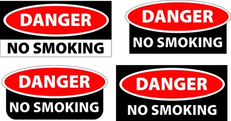 danger - no smoking Vector
