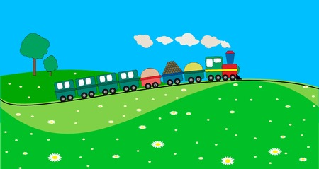 landscape with train Vector
