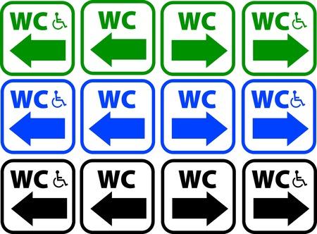 toilet signs Vector