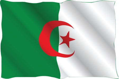 national flag of algeria Illustration