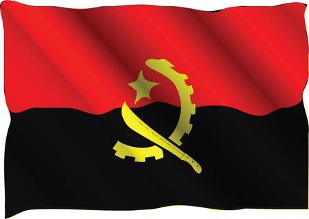 angola: national flag of angola Illustration