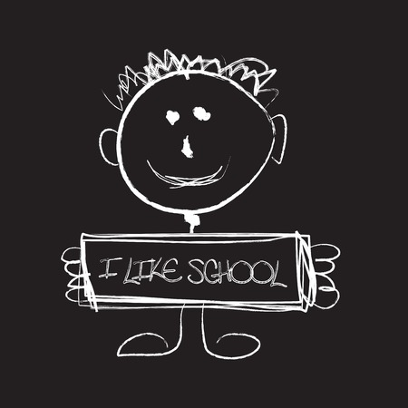 i like school Illustration