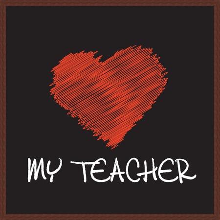 schooltime: my teacher Illustration