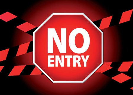 prohibition signs: no entry