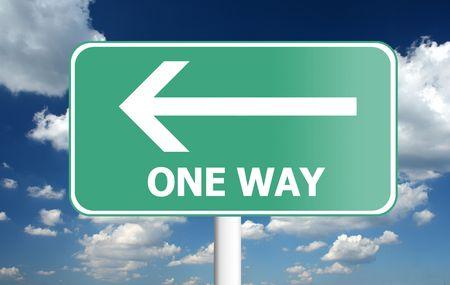 one way: one way