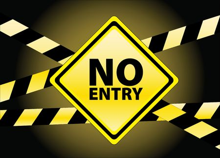 no entry: no entry Stock Photo