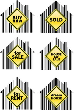 immovable property: pack of signs