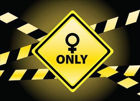 sadece kadınlar: for women only Stok Fotoğraf