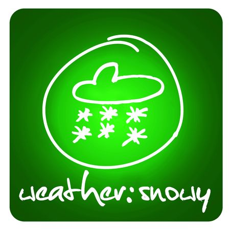 web button - snowy weather Stock Photo - 5993769