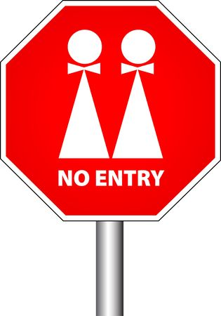 no entry for gays photo