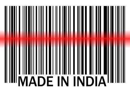 bar code made in india photo