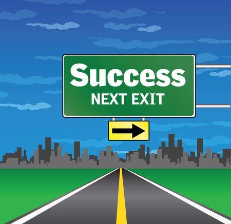 next exit - success Stock Photo