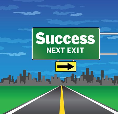 next exit - success Stock Photo