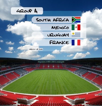 soccer stadium: soccer world cup 2010 - table of group A