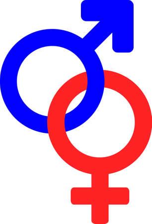 signos de g�nero de sexo masculino y femenino  Foto de archivo - 6359216