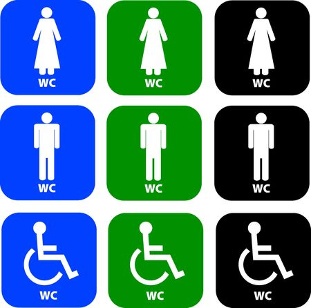 pack of toilet signs photo