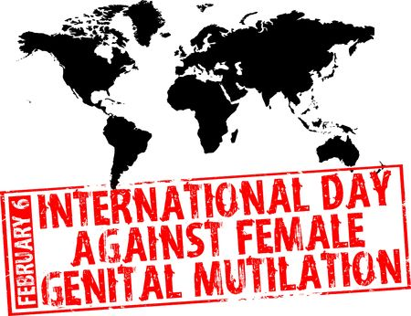 February 6 - International Day Against Female Genital Mutilation Stock Photo