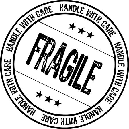 fragile - handle with care Stock Photo