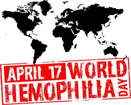 hemophilia: world hemophilia day Stock Photo