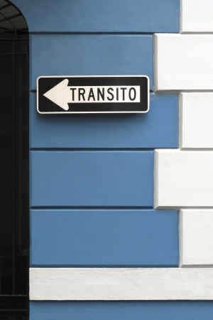 masonary: Transportation sign framed by vintage masonary design