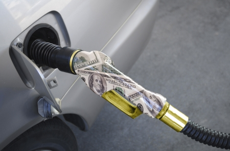 Pumping gas from a golden - Cash nozzle