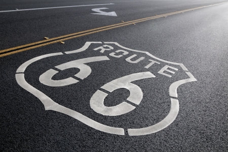 A American Icon  a section of Route 66 in California Imagens