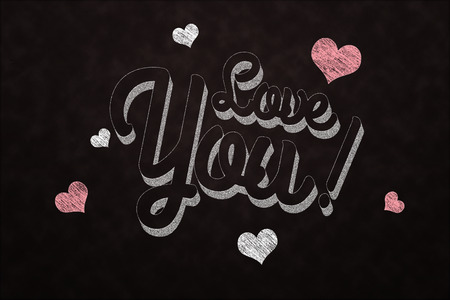 Love you on chalkboard Imagens - 27569444