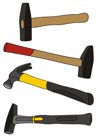hand drawing of hammers