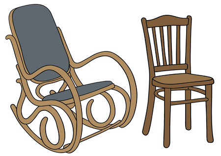 hand drawing of classic wooden chairs