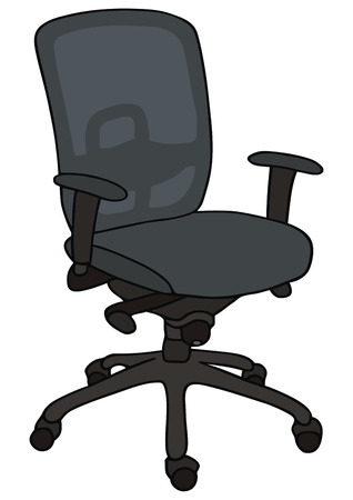 hand drawing of office chair Illustration