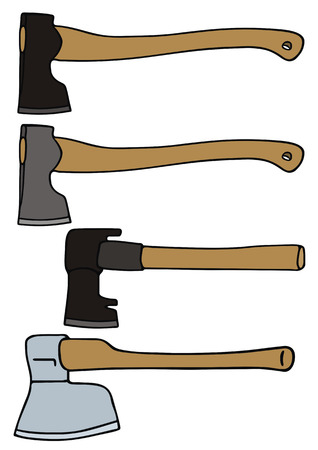 hand drawing of axes