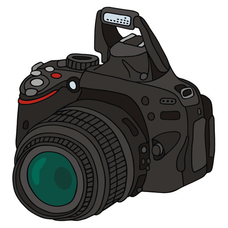hand drawing of camera