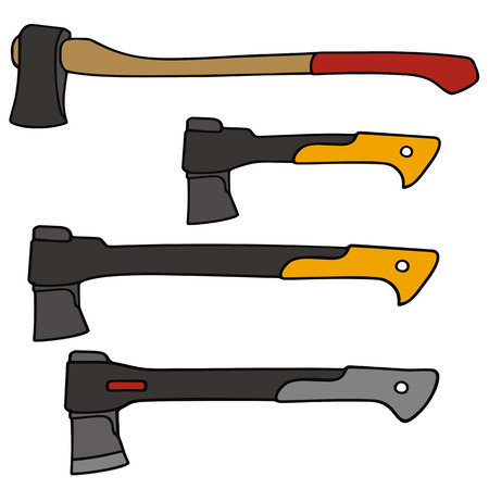 hand drawing of classic and recent axes
