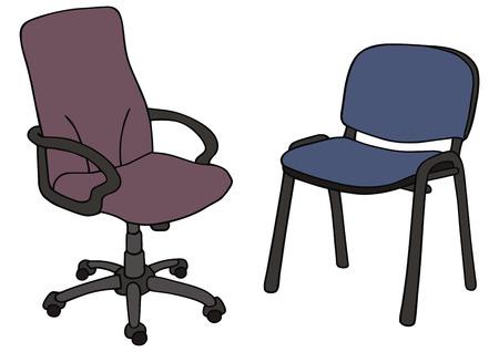 手描きのオフィスの椅子の  イラスト・ベクター素材