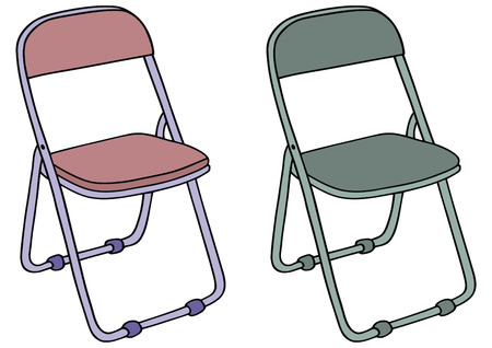 hand drawing of camping chair Illustration