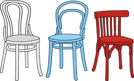 disegno a mano di sedie classiche