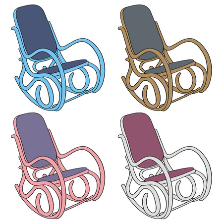 hand drawing of classic rocking chair Vector