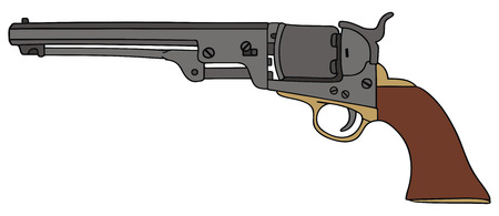 colt: hand drawing of classic Wild West hand gun