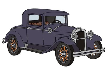 Dibujo de la mano de un coche clásico Foto de archivo - 23321690