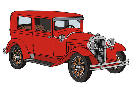 old timer: hand drawing of a classic car