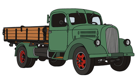 hand drawing of old truck
